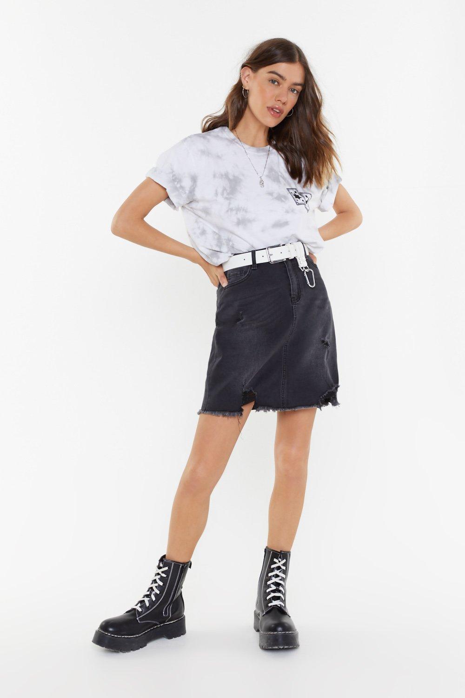 2f4ce30fd8e4 Best Distressed Denim Mini Skirt   Shop Clothes at Nasty Gal!