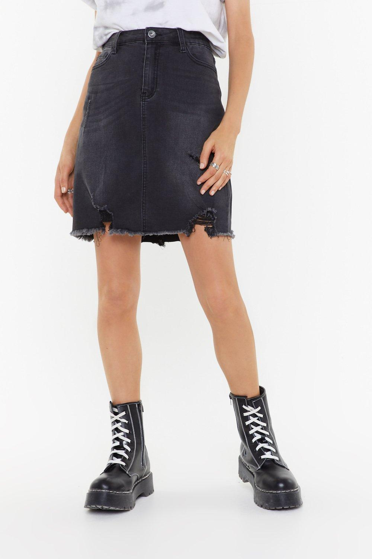 ac3947bc56 Best Distressed Denim Mini Skirt | Shop Clothes at Nasty Gal!