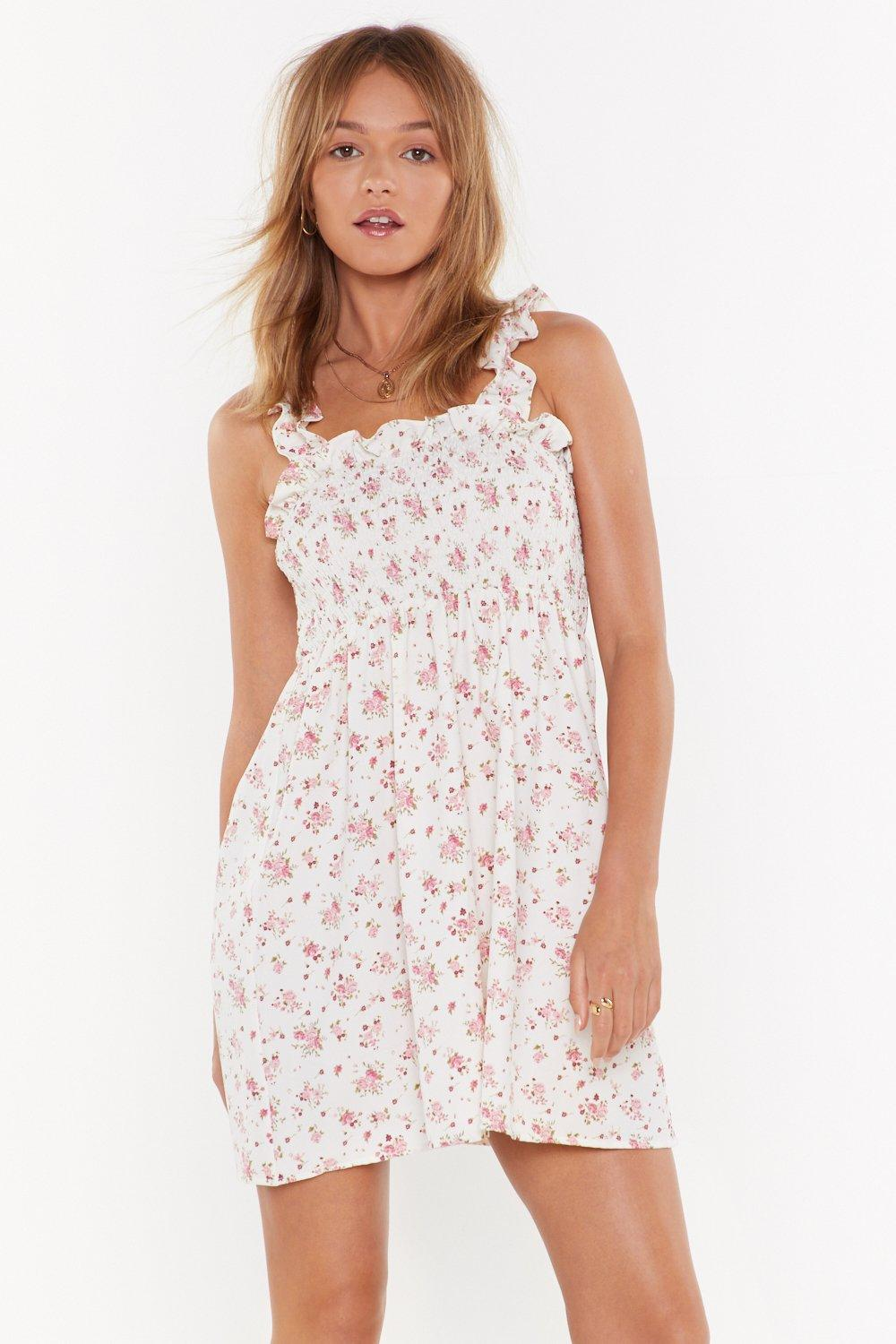 d068dc9240b13 Flower Hour Shirred Mini Dress | Shop Clothes at Nasty Gal!