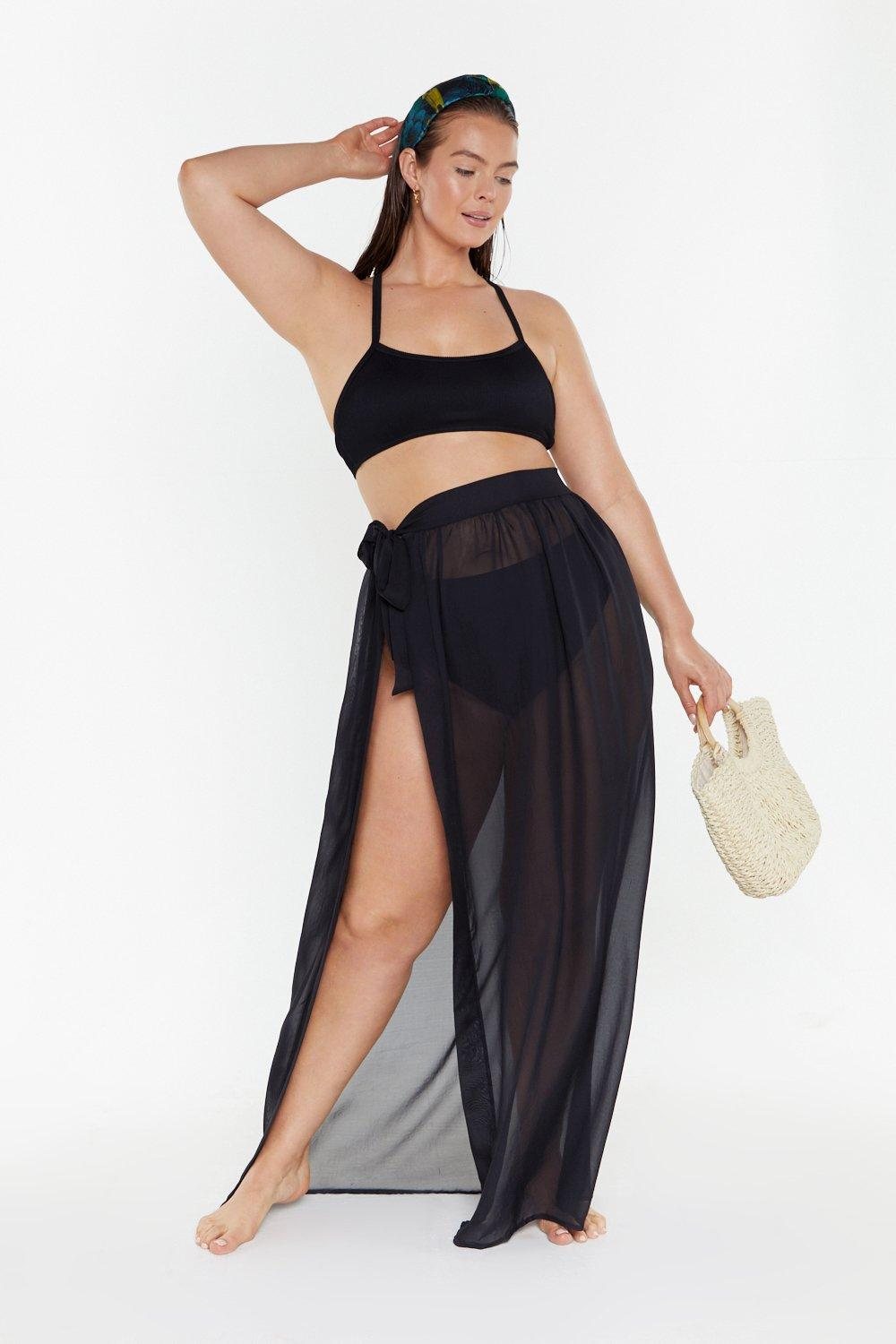 d38bb4ec21751 MS Tie Side Chiffon Maxi Beach Skirt | Shop Clothes at Nasty Gal!