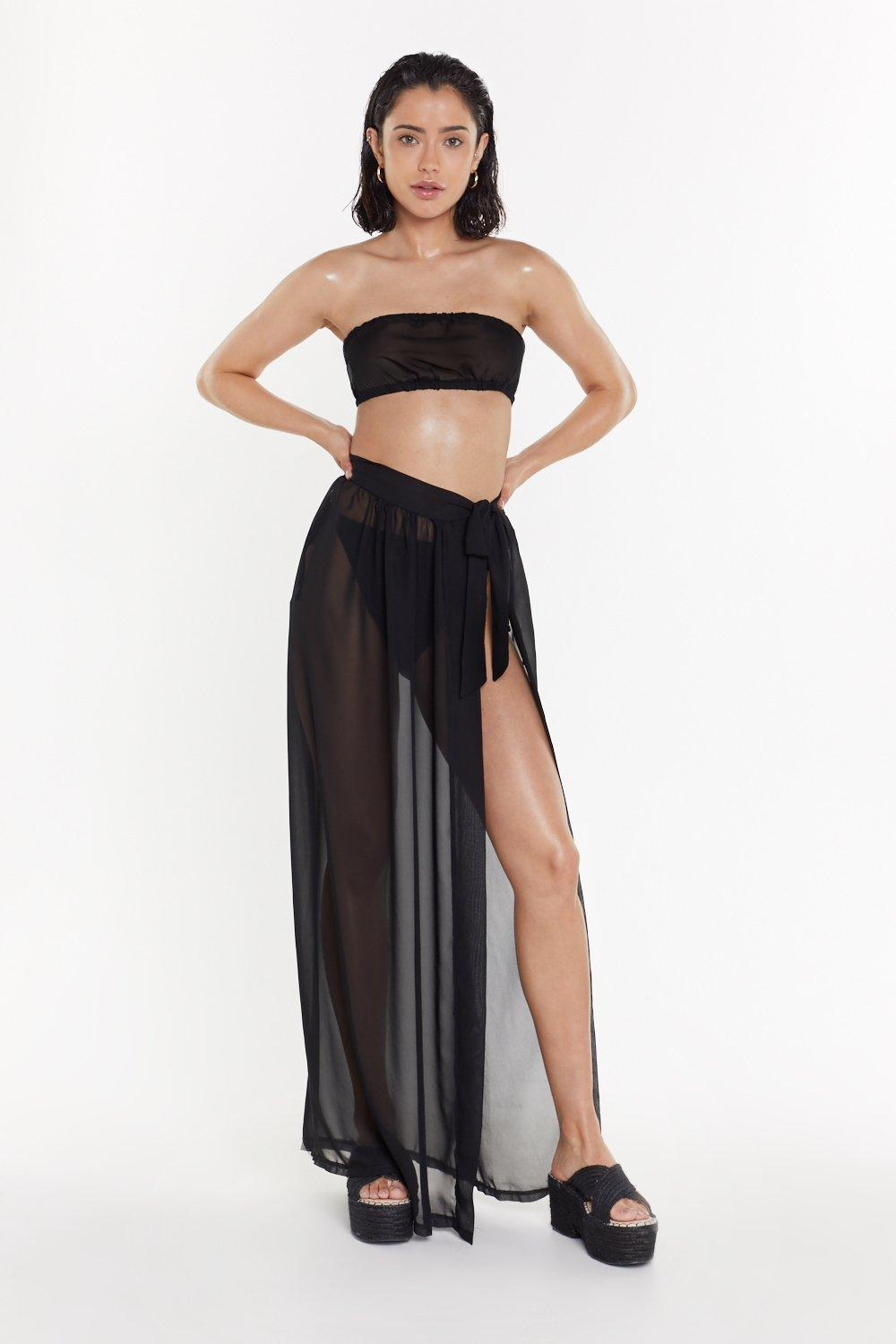 0401faea67 Tie for the Beach Crop Top and Skirt Cover-Up Set | Shop Clothes at ...
