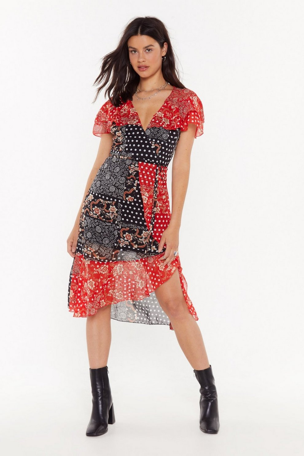 2b8174ac943b Don't Patch Feelings Mixed Print Midi Dress | Shop Clothes at Nasty Gal!