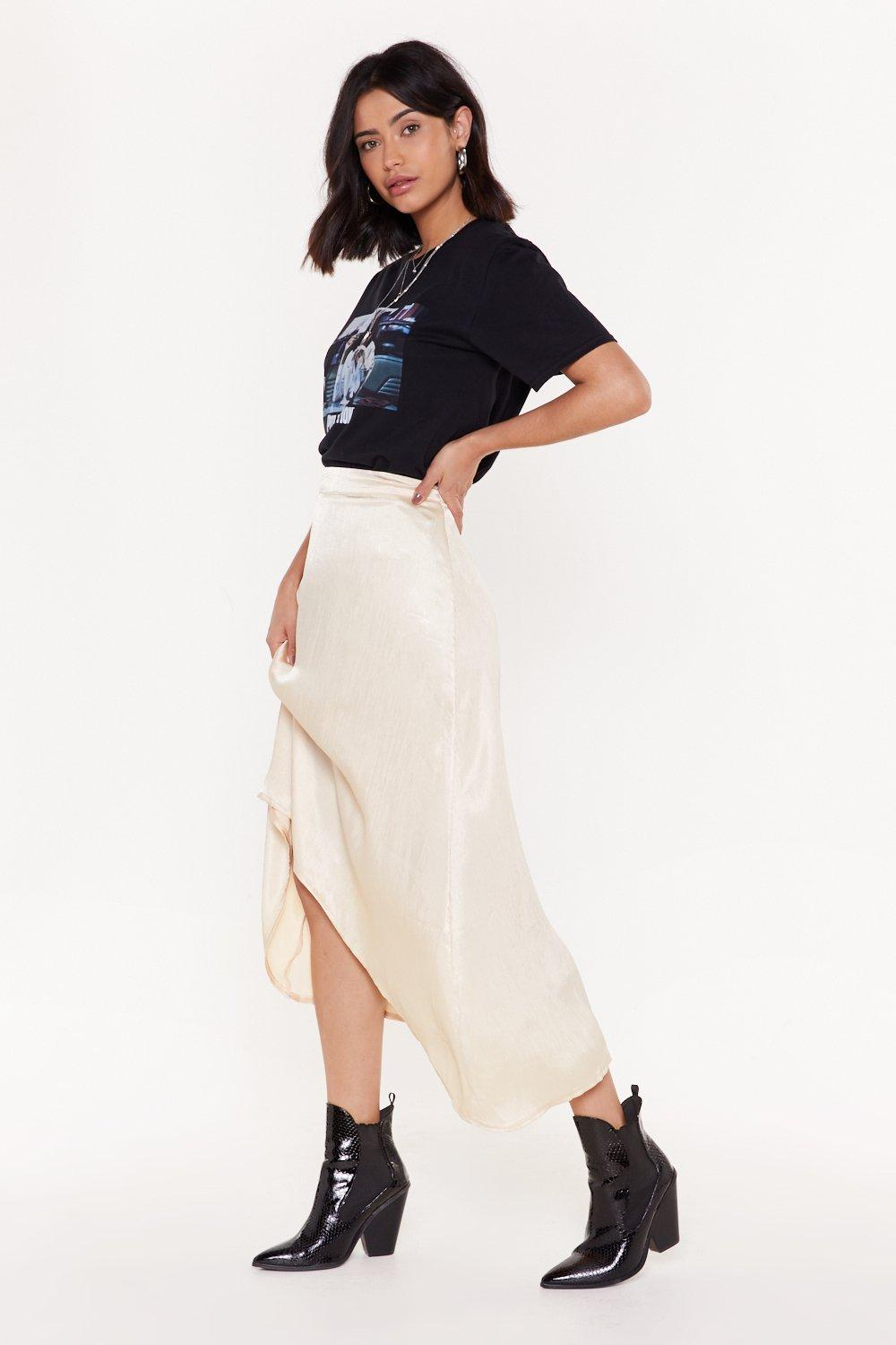 a9f4ec96b5 When They Go Low Satin Midi Skirt | Shop Clothes at Nasty Gal!