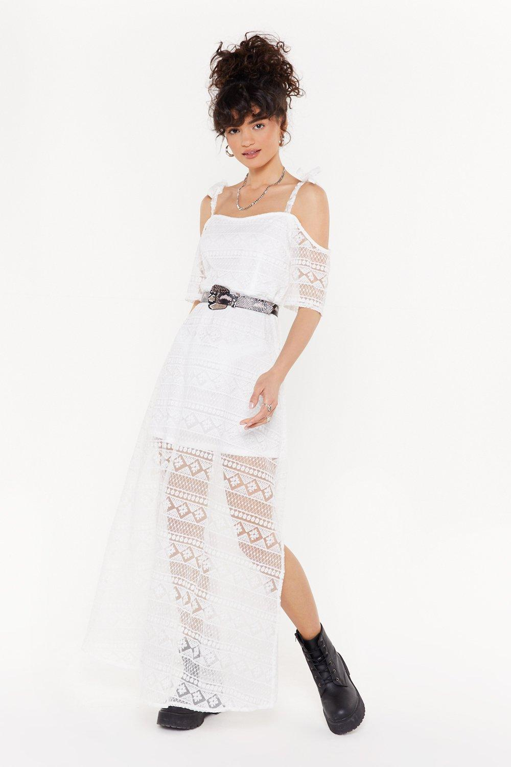046cafb47a Giving You the Cold Shoulder Lace Maxi Dress | Shop Clothes at Nasty Gal!