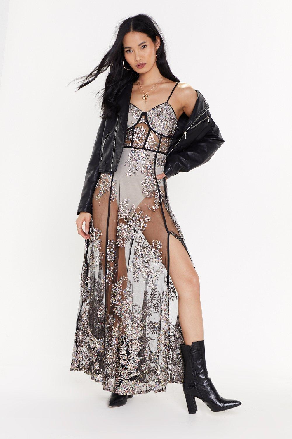 56cf2a75f3696 The Disco Needs You Embellished Mesh Maxi Dress | Shop Clothes at Nasty Gal!