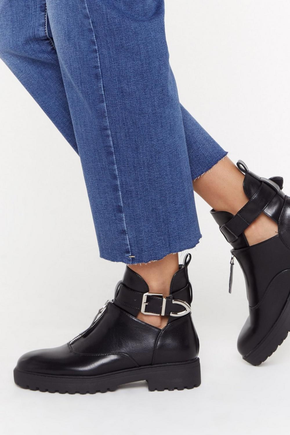 b24d59498b Kick 'Em Into Touch Faux Leather Biker Boot | Shop Clothes at Nasty Gal!