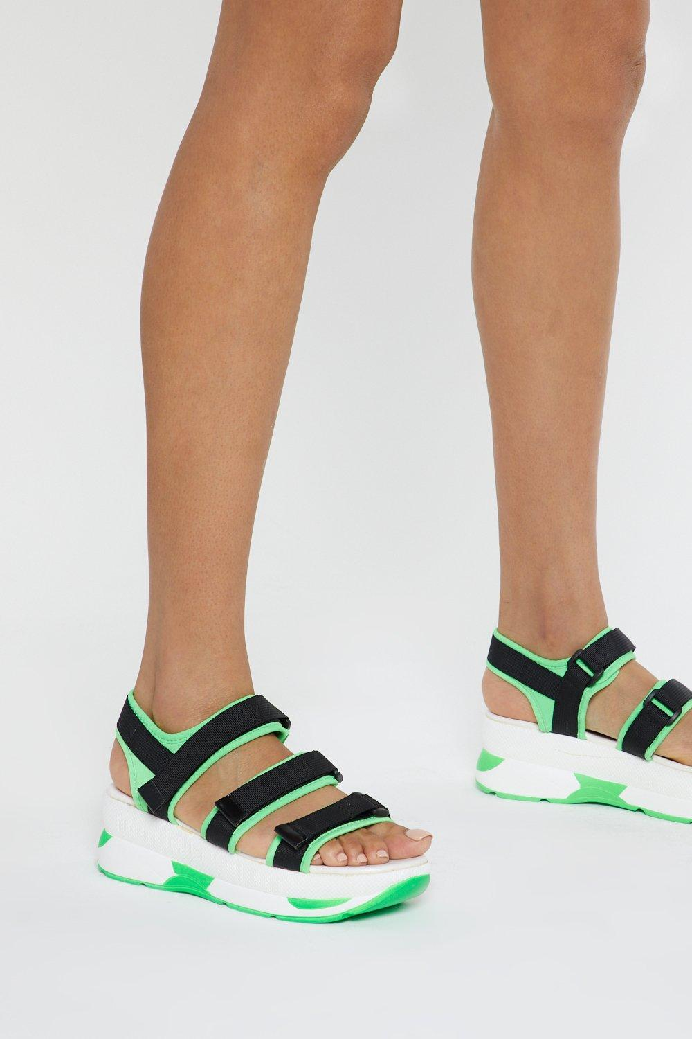 0bb869636ec Neon It Chunky Strappy Sandals | Shop Clothes at Nasty Gal!