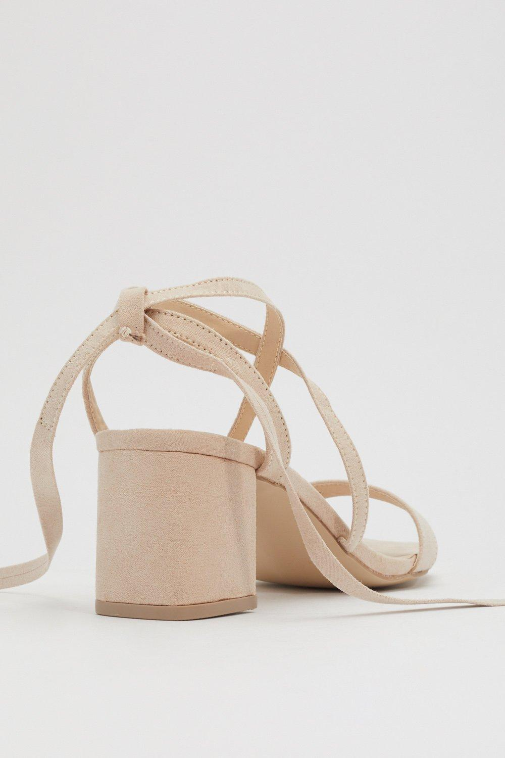 9c12d9c9a62a Womens Nude Available in High Tie Wrap and Tie Sandals. Hover to zoom