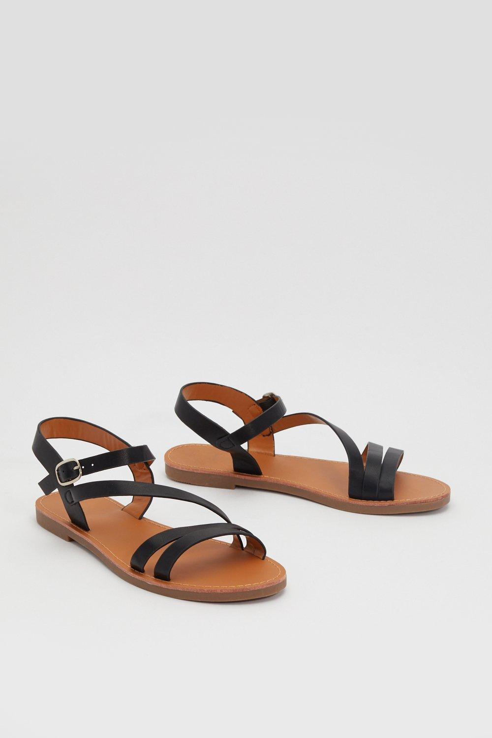 d3e110d797249 Sun is Shining Faux Leather Strappy Sandals | Shop Clothes at Nasty Gal!