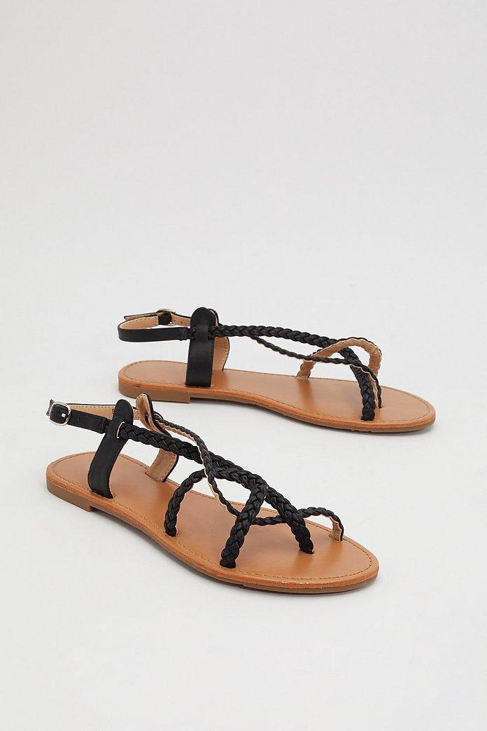 Braid the Game Flat Sandals | Nasty Gal