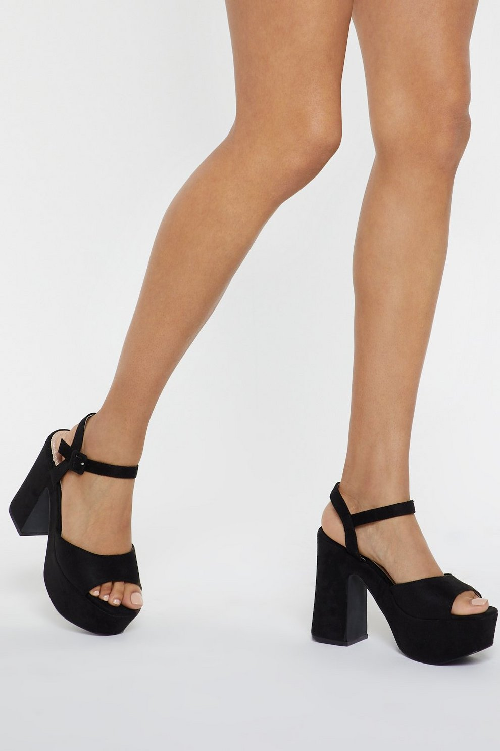 57124572ec Going Up Peep Toe Platform Heels | Shop Clothes at Nasty Gal!