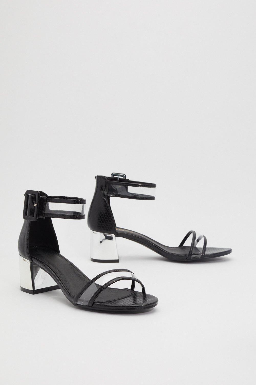 2b160887284 Heels the Deal Metallic Clear Heels | Shop Clothes at Nasty Gal!