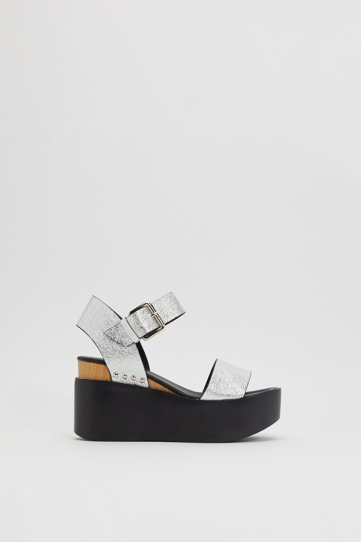 f5bddc8484a Silver of Hope Platform Metallic Sandals