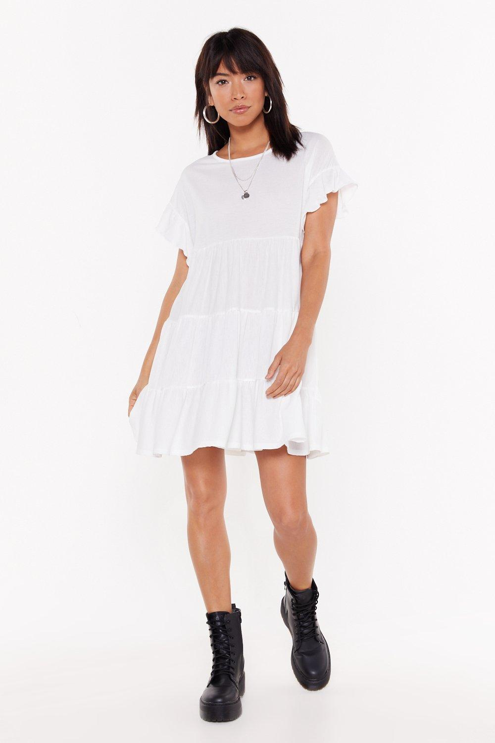 896e620ba Frill Into You Crinkle Mini Dress | Shop Clothes at Nasty Gal!