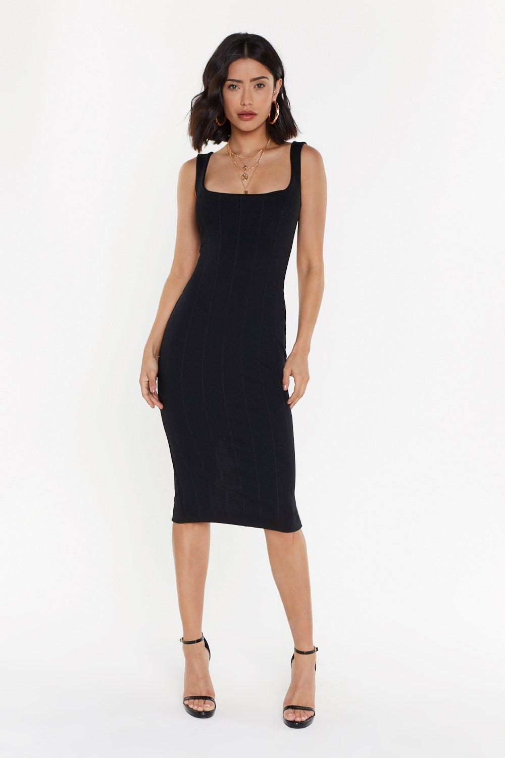 7262b37de18 Square Neck Bandage Midi Dress | Shop Clothes at Nasty Gal!