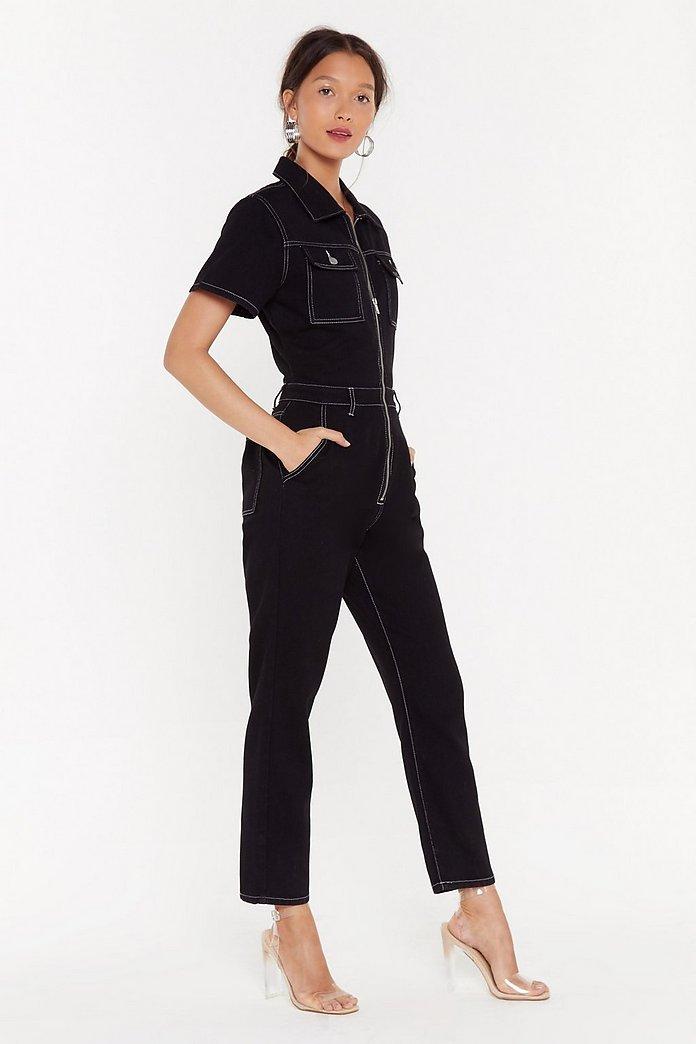 prix fou procédés de teinture minutieux divers styles Combinaison cargo en jean Surpique-partie | Shop Clothes at Nasty Gal!