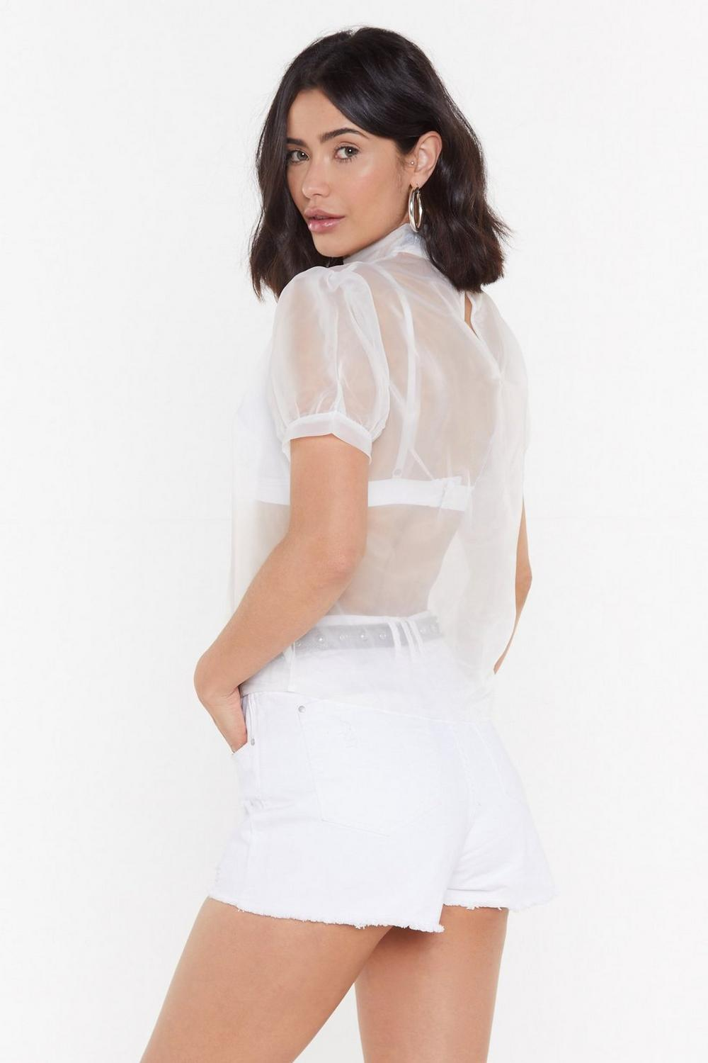 2d77651882243a Sheer As Hell Organza Puff Top | Shop Clothes at Nasty Gal!