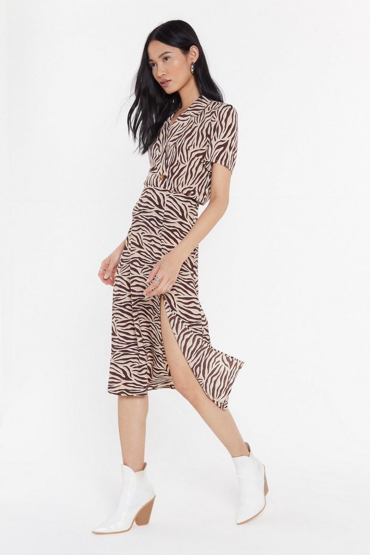 196817165d Real Wild Child Zebra Midi Skirt | Shop Clothes at Nasty Gal!