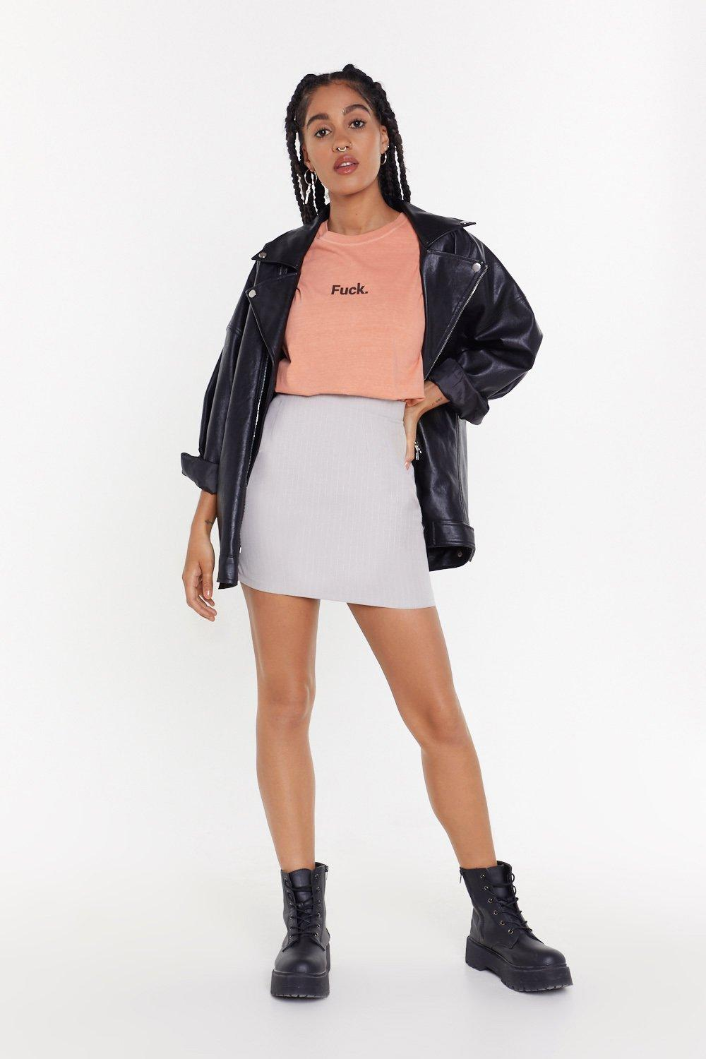 3c68b453d0 All Your Lines Pinstripe Mini Skirt | Shop Clothes at Nasty Gal!