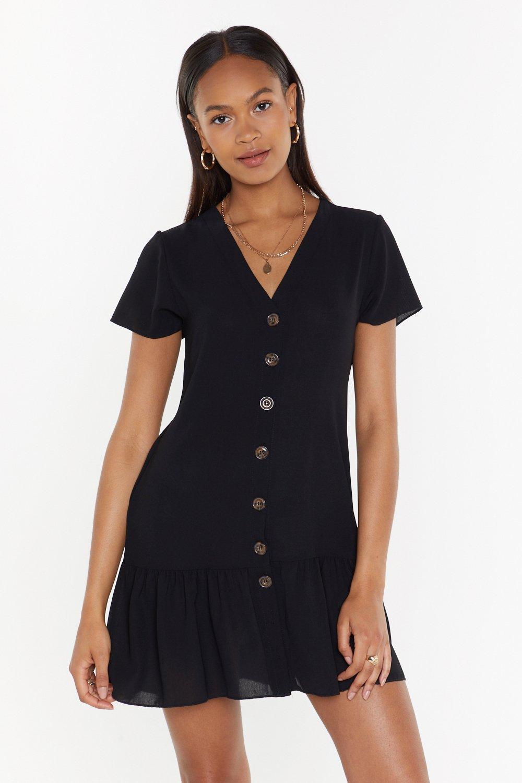 4da36369519 Womens Black Button-Down Tonight Mini Dress