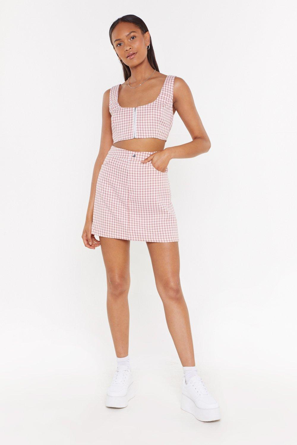 1b7d20cd70 Houndstooth Be Told Mini Skirt | Shop Clothes at Nasty Gal!
