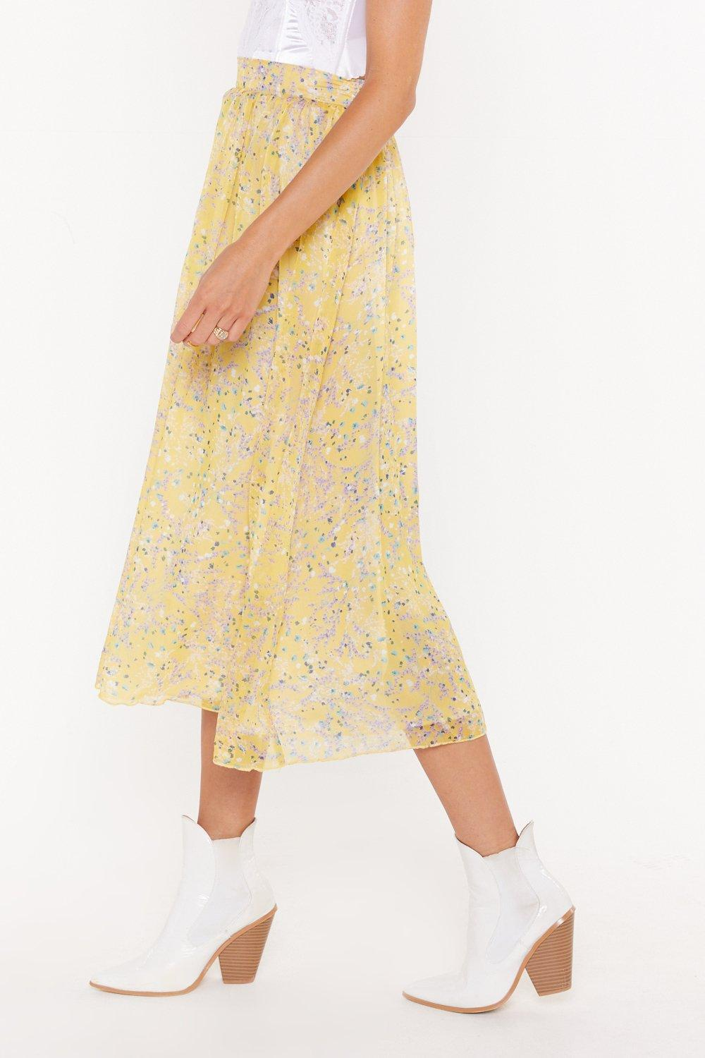 8b0f3110e5aa Listen to the Flower People Floral Midi Skirt | Shop Clothes at ...