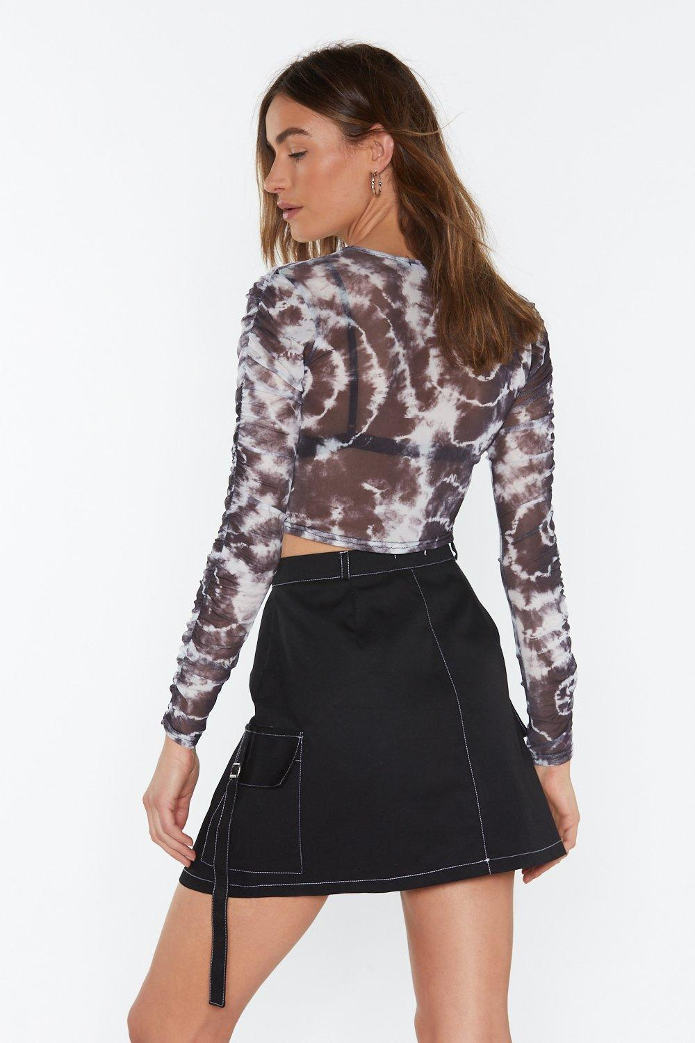 407b094c03e Tie Dye For You Mesh Crop Top   Shop Clothes at Nasty Gal!
