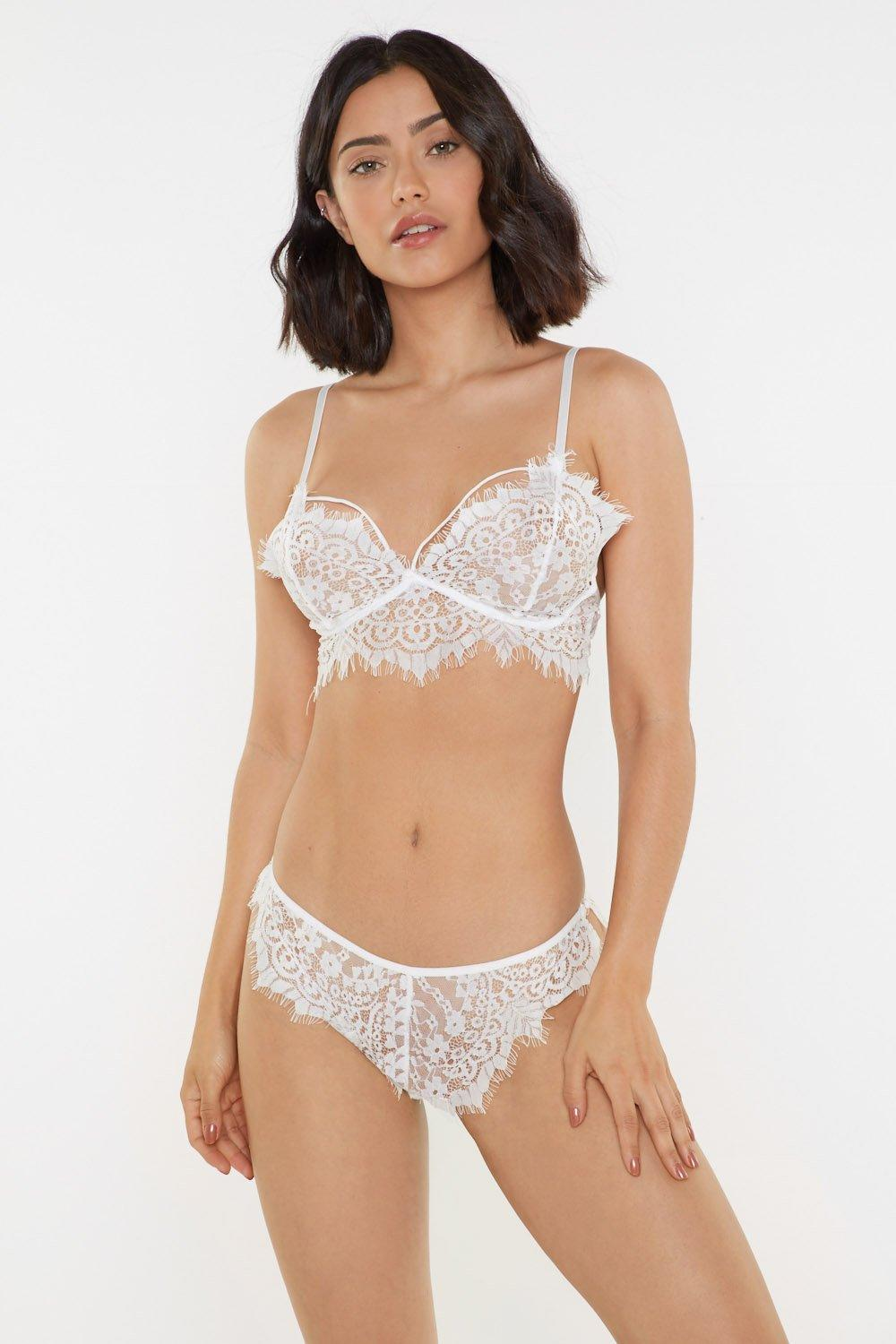 4eadd58e2a1f Strappy Eyelash Lace Bra & Brief Set | Shop Clothes at Nasty Gal!