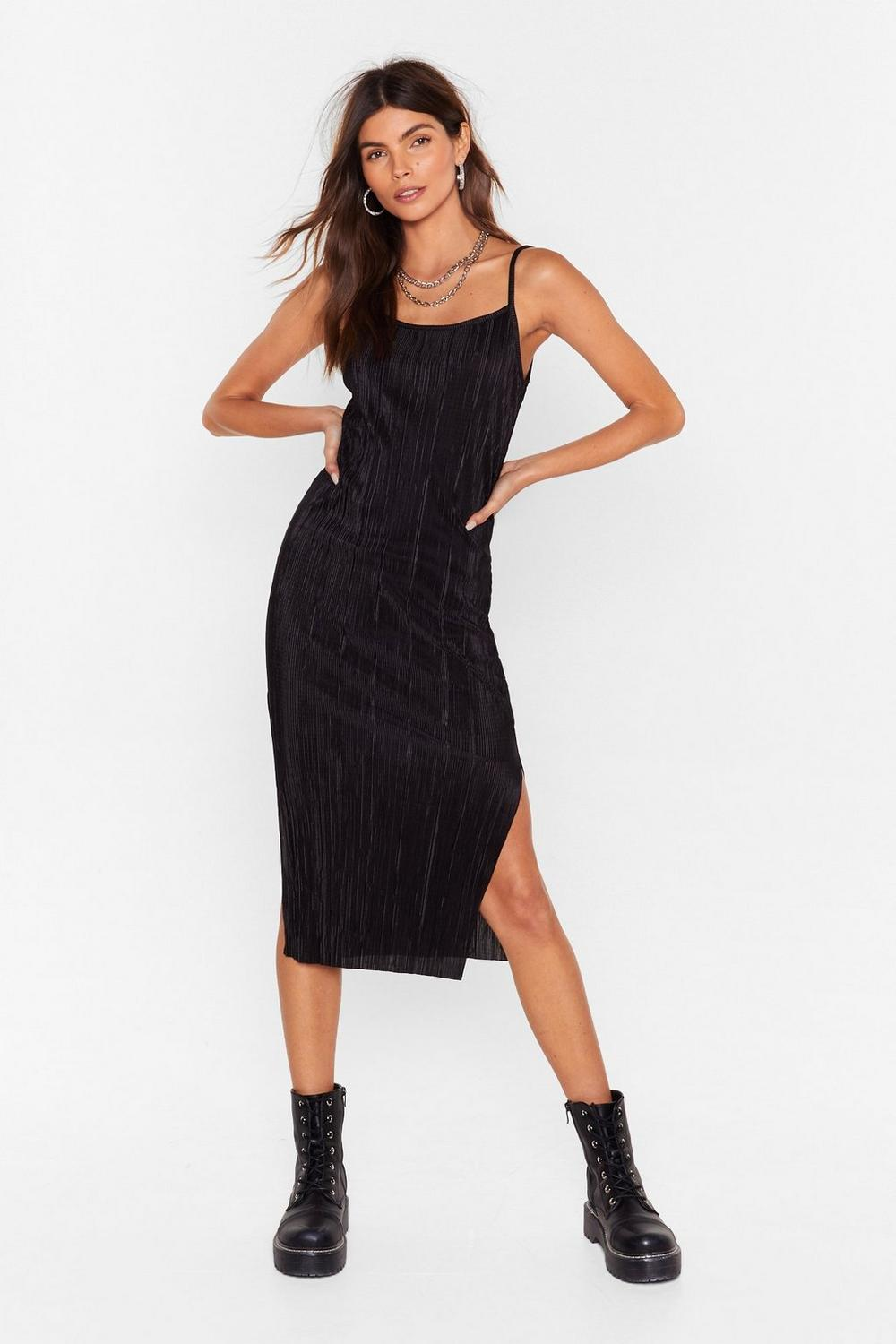 5d8b78baacce Strappy Plisse Midi Dress | Shop Clothes at Nasty Gal!