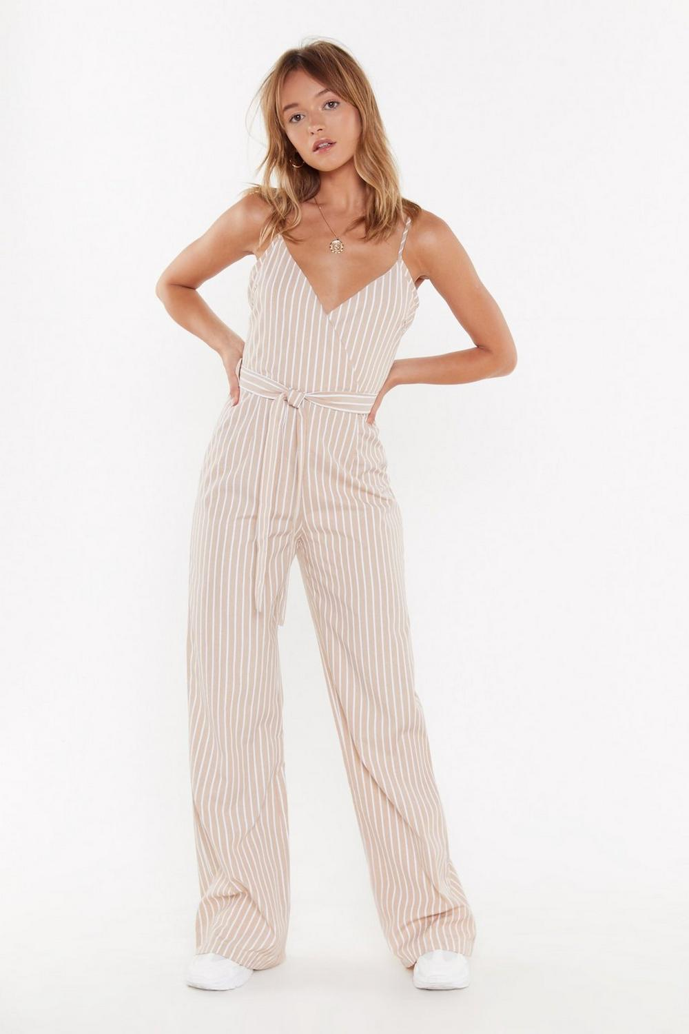 660f4f9da Straight Up Striped Belted Jumpsuit | Shop Clothes at Nasty Gal!