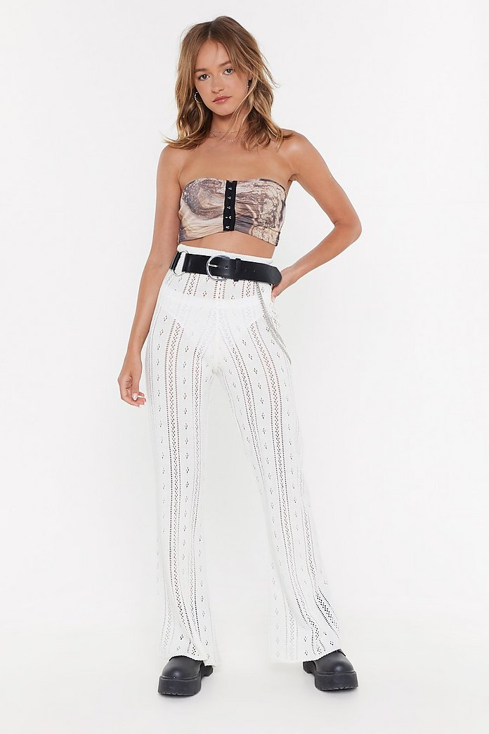 Cut Knit Out Pointelle Top And Pants Set by Nasty Gal