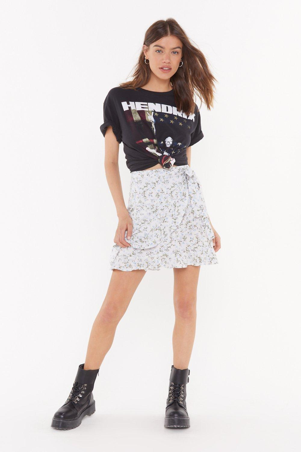 4f1c88553d0ab1 Are You Feeling Bouquet Floral Wrap Skirt | Shop Clothes at Nasty Gal!