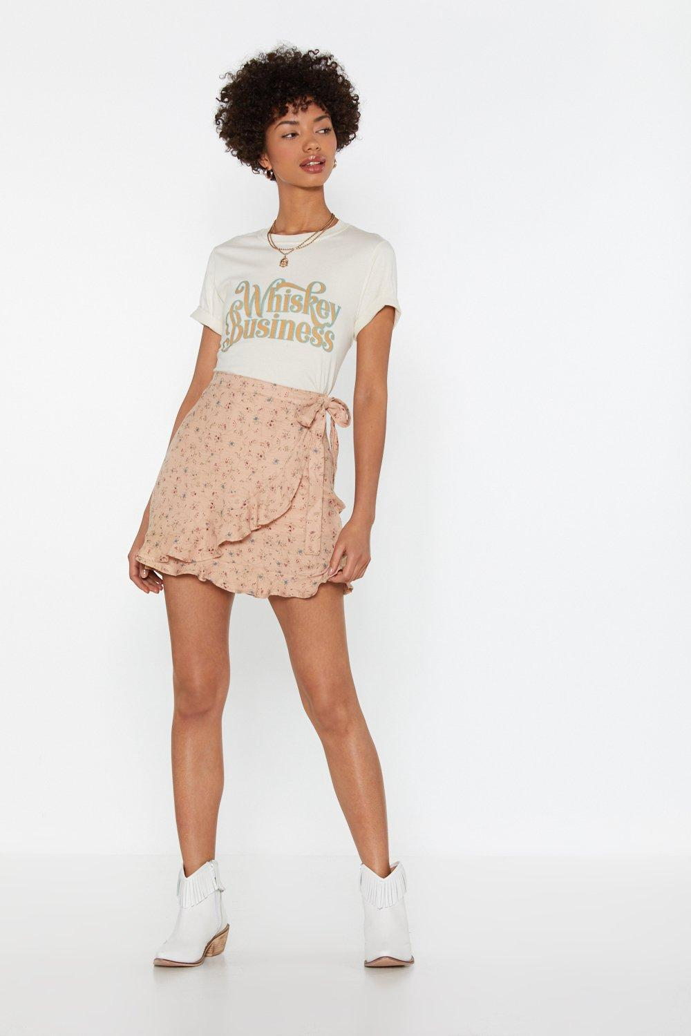 8513ad4f03b2d4 Bud Out Floral Wrap Skirt | Shop Clothes at Nasty Gal!