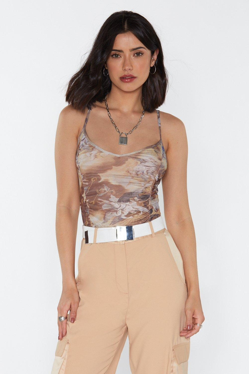 80603577af Painted Love Ruched Bodysuit | Shop Clothes at Nasty Gal!