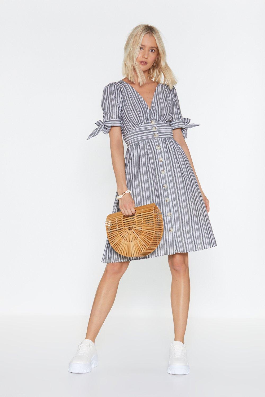 1d6ea34d451f You've Gotta Stripe Button-Down Midi Dress | Shop Clothes at Nasty Gal!