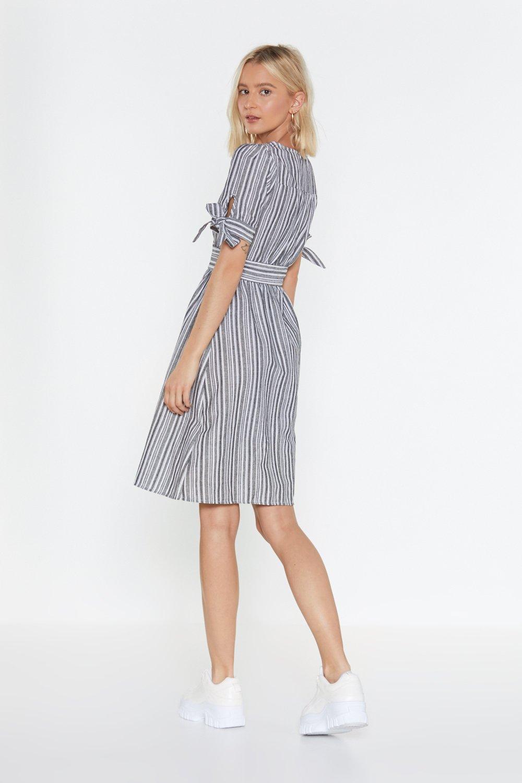 aac3543e31a0 You've Gotta Stripe Button-Down Midi Dress   Shop Clothes at Nasty Gal!