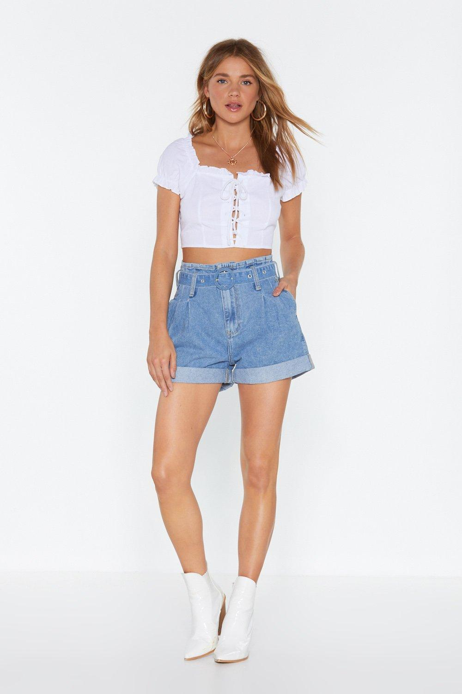 1e34f30224 Belted Paperbag Denim Shorts | Shop Clothes at Nasty Gal!