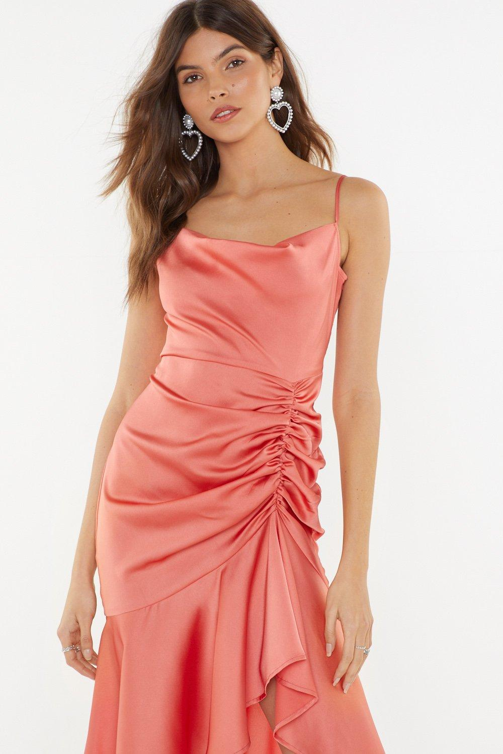 Slick City Gal Satin Midi Dress | Shop Clothes at Nasty Gal!
