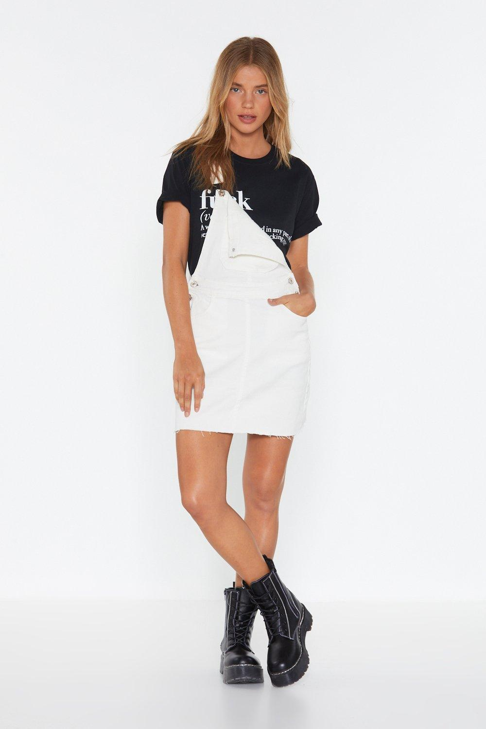 7d5a085441f Perfect Day Denim Pinafore Dress. Hover to zoom