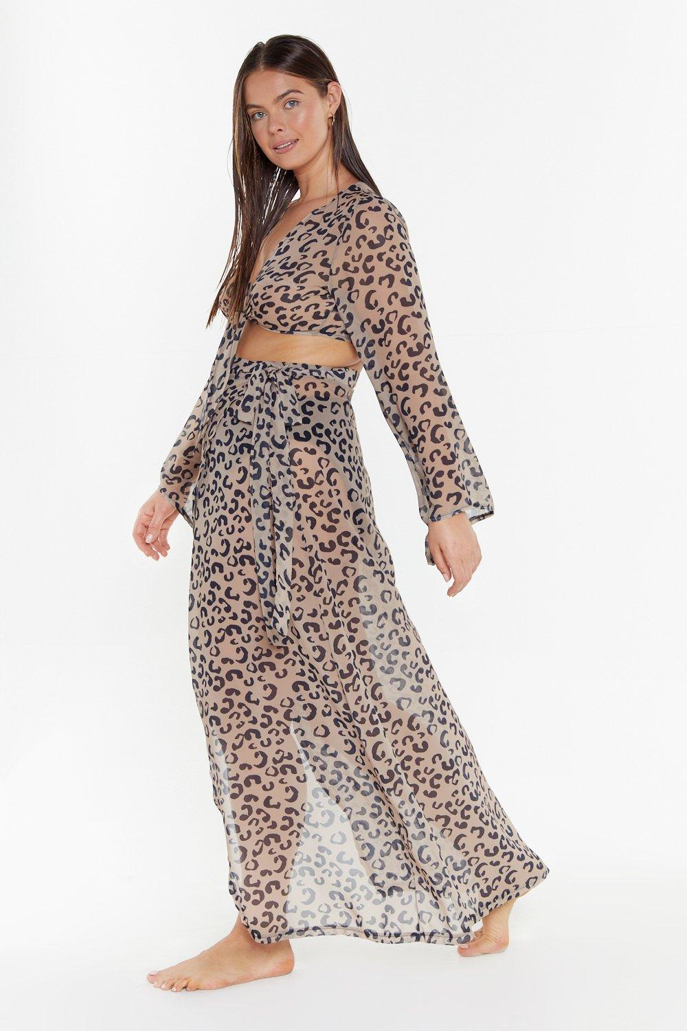 c69062ded6bf Charmed I'm Shore Leopard Cover-Up Plus Skirt | Shop Clothes at ...