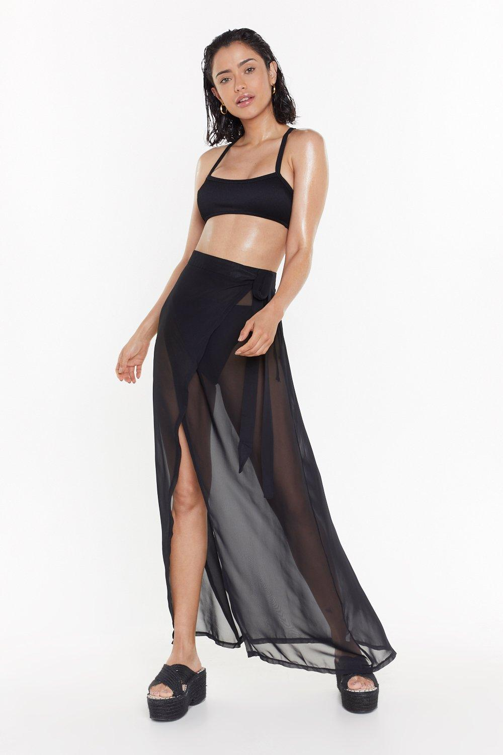 b5cc496b98967 We'll Sea About That Chiffon Cover-Up Skirt | Shop Clothes at Nasty Gal!