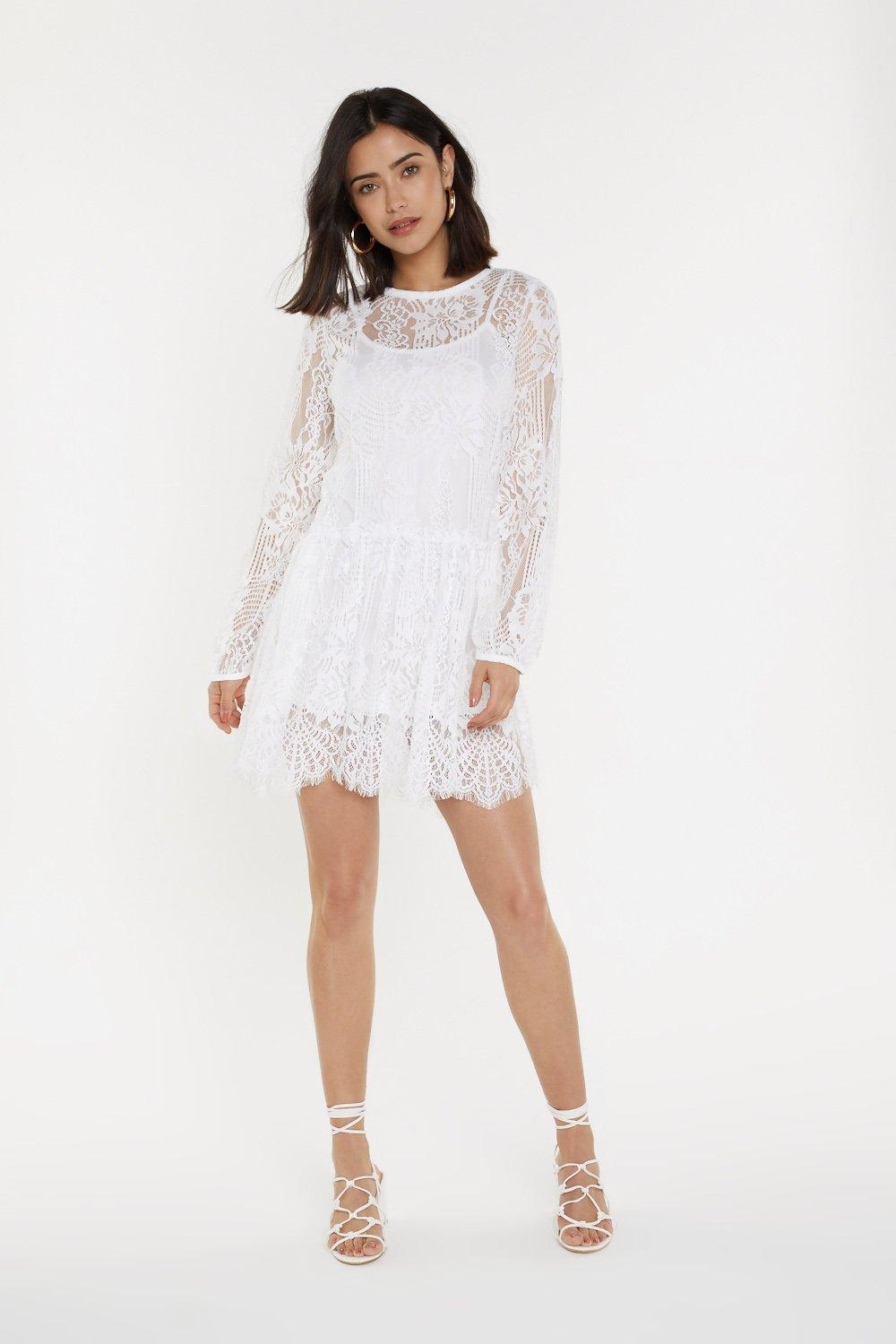 dd8f05f012e2 Lace Smock Dress   Shop Clothes at Nasty Gal!