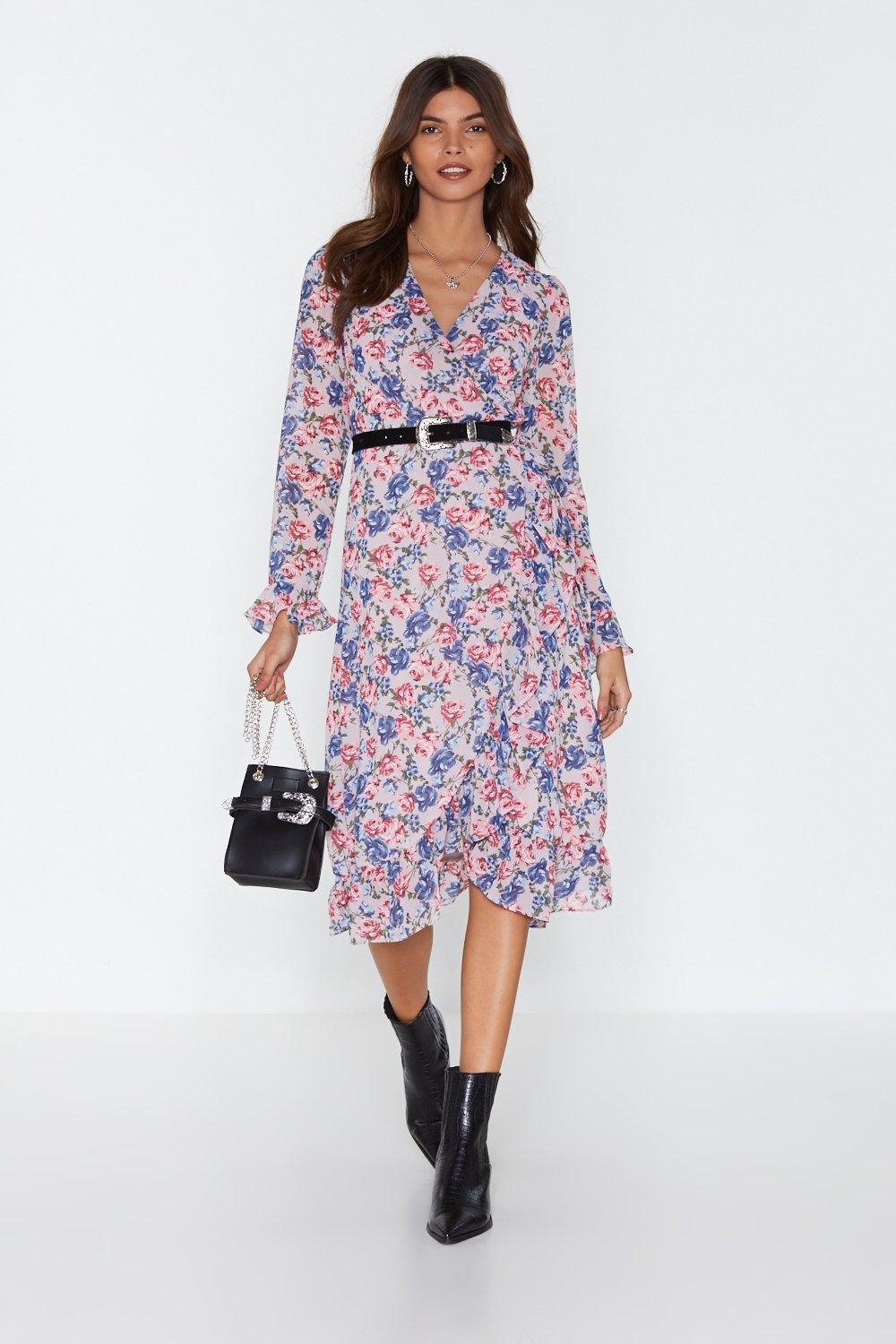 a11b2e0cb91b Leafing So Soon Floral Midi Dress. Hover to zoom