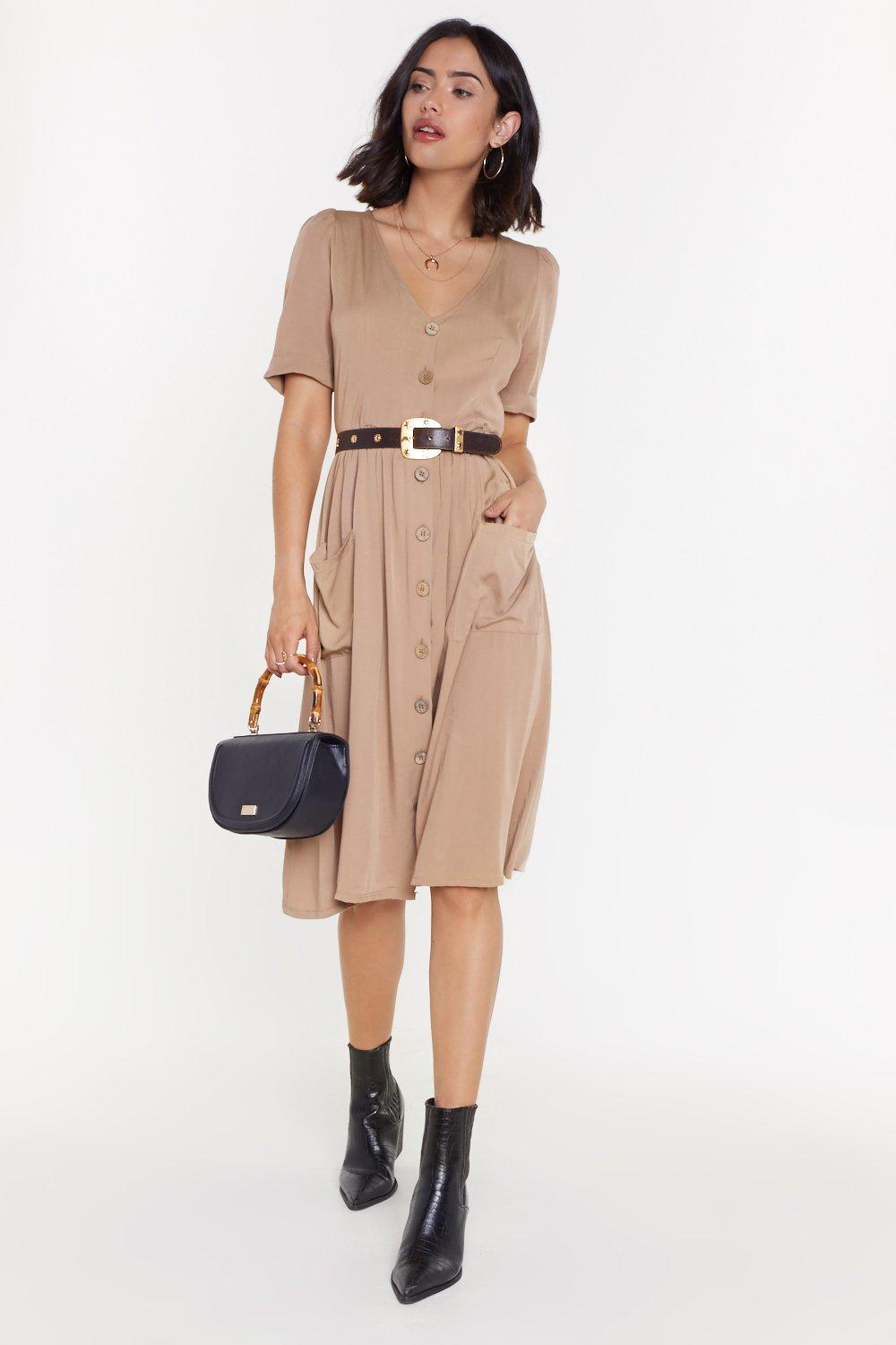 12f484487091 Button Front Midi Smock Dress | Shop Clothes at Nasty Gal!