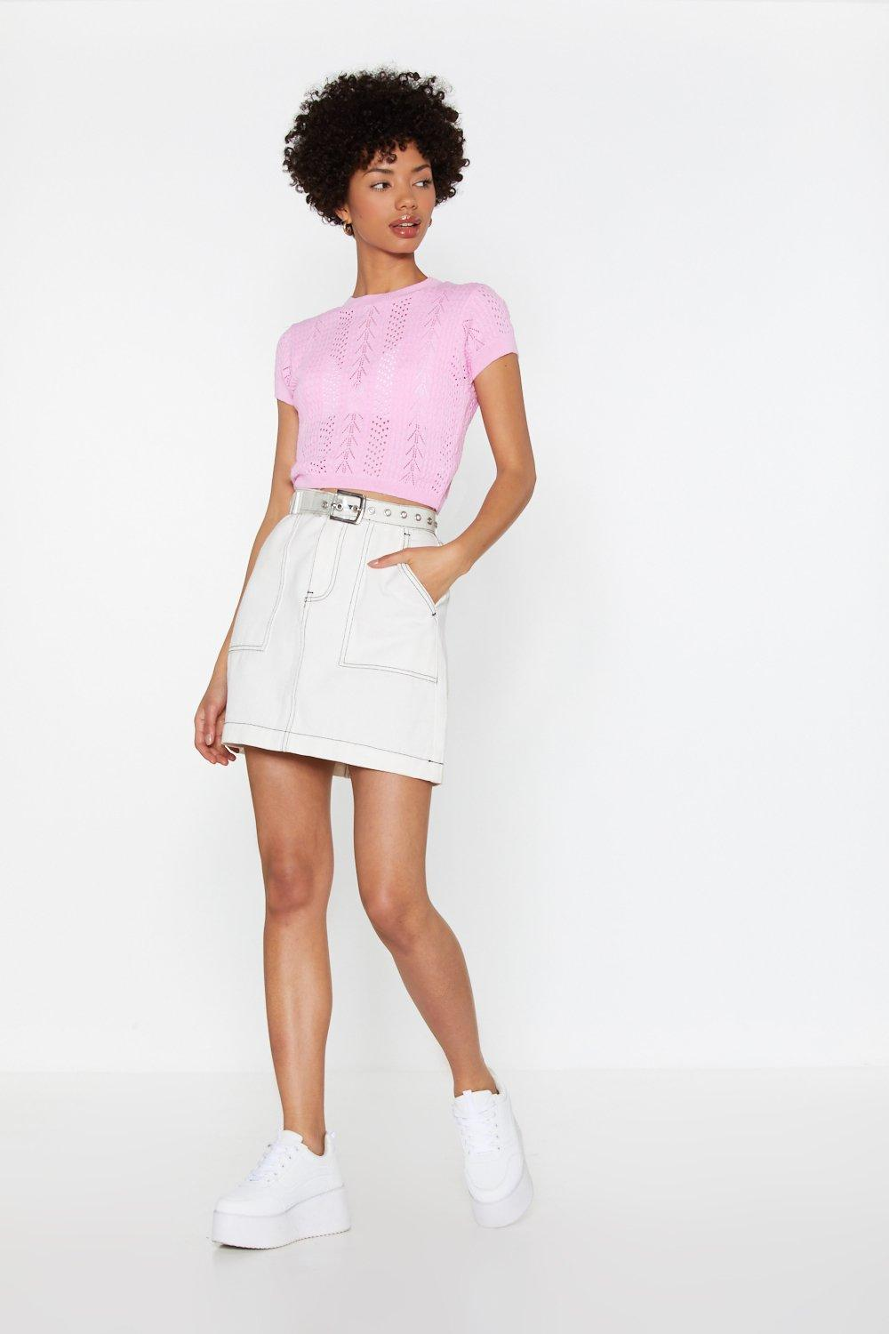 2275534153a Pointelle Short Sleeve Top | Shop Clothes at Nasty Gal!