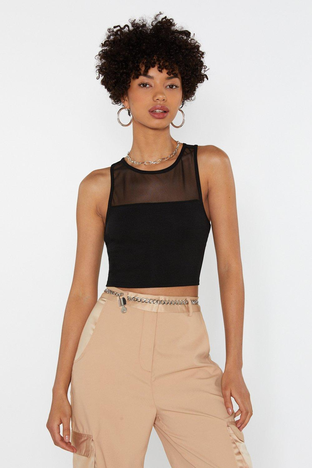 fdf782d907 Mesh of the Best Racer Crop Top | Shop Clothes at Nasty Gal!