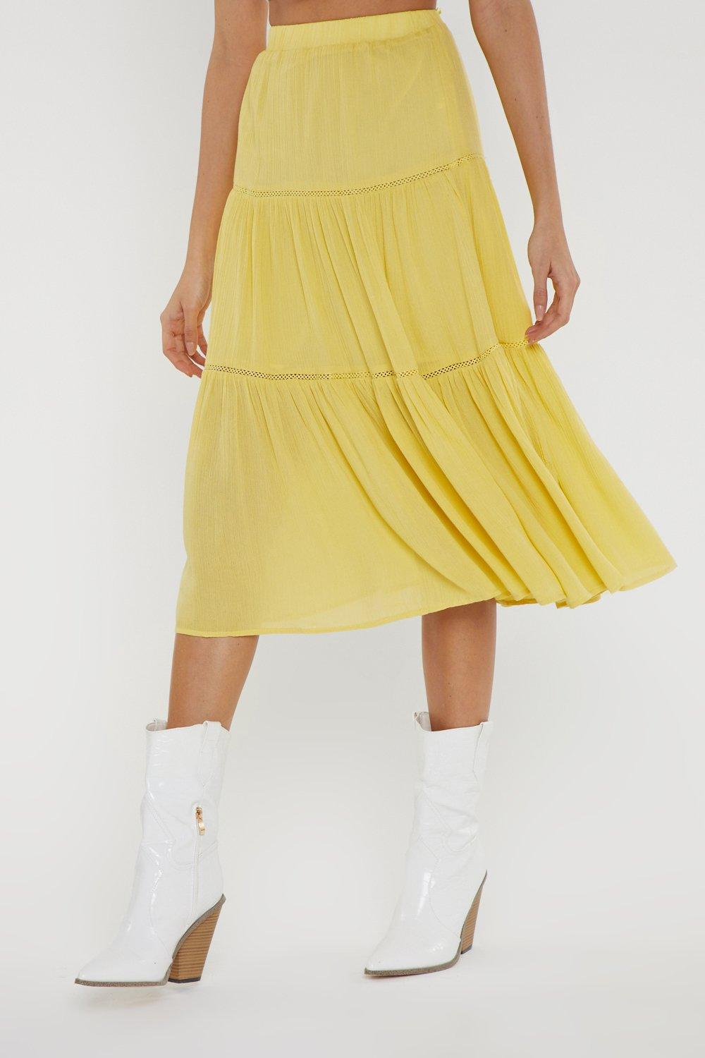 b302461f7f Tier We Go High-Waisted Midi Skirt | Shop Clothes at Nasty Gal!