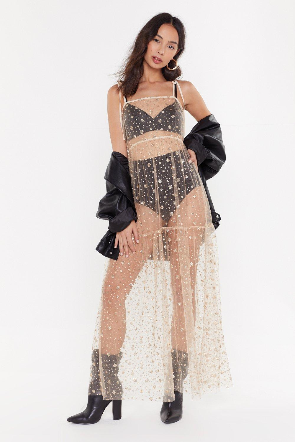 87aedf41 Spark Up Mesh Glitter Maxi Dress | Shop Clothes at Nasty Gal!
