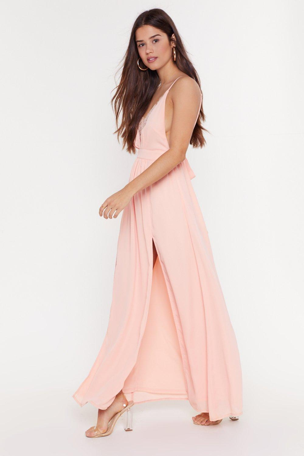 c42b2f7ea7 Plunge Lace Tie Waist Maxi Dress | Shop Clothes at Nasty Gal!