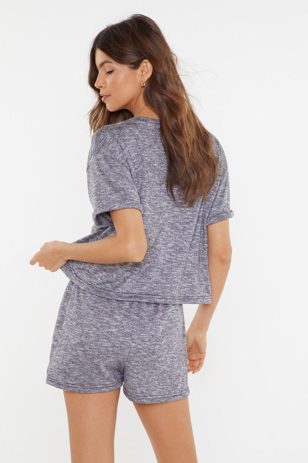 2f29d4e1cf0 Womens Grey marl Where There's a Chill Lounge Shorts. Hover to zoom